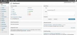 Wordpress für Musiker Homepage Admin Bereich