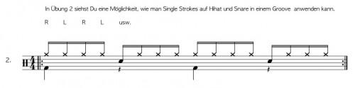 Single Strokes am Schlagzeug