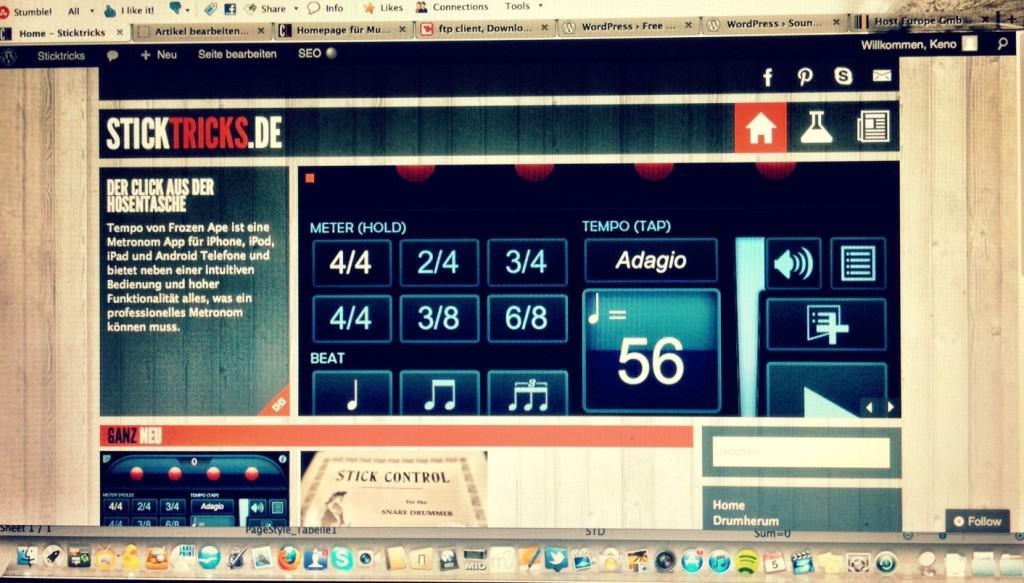 Wie man eine Musiker Homepage mit Wordpress erstellt.
