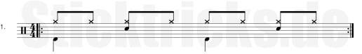 Schlagzeugnoten 1/8 Groove