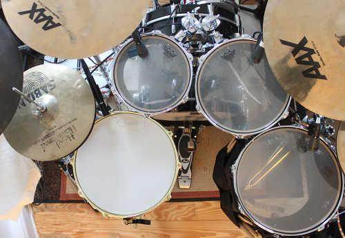 Schlagzeug von oben