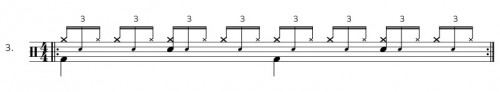 """Bassdrum auf """"1"""" und """"3"""""""