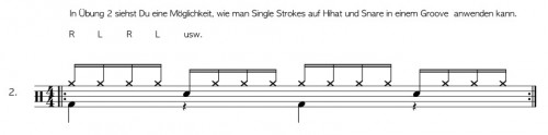 Single Strokes am Schlagzeug