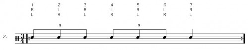 Drum Rudiment Single Stroke Seven