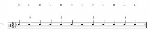 Drum Rudiment Double Paradiddle