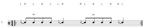 Flamacue - Drum Rudiment