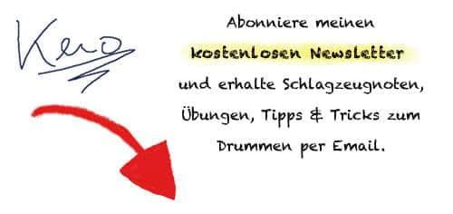Schlagzeug Newsletter bestellen