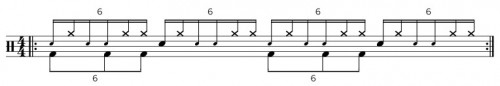Single Paradiddle Diddle & Bassdrum