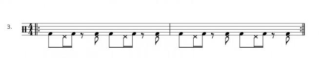 Bassdrum Hihat Ostinato - Übung 3