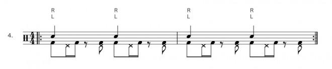 Bassdrum Hihat Ostinato - Übung 4