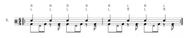 Bassdrum Hihat Ostinato - Übung 5