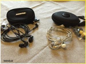 Shure In Ear Kopfhörer SE535 und SE215