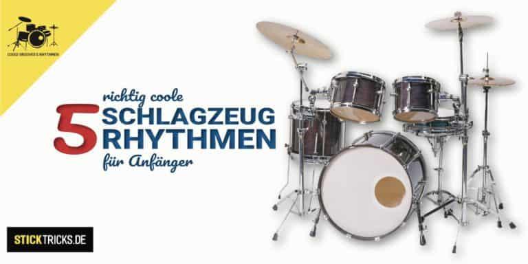 Rhythmen für Schlagzeug Anfänger