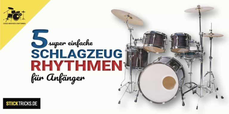 5 Rhythmen für Schlagzeug Anfänger