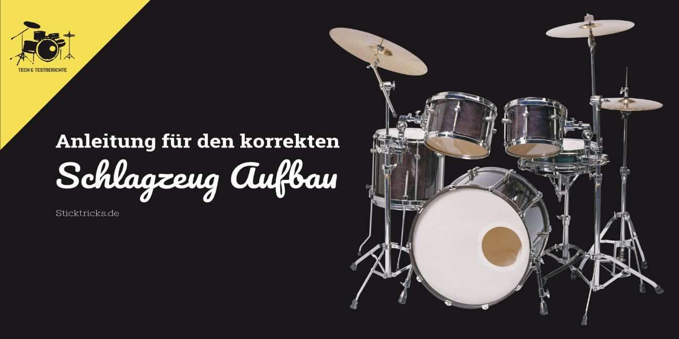 Aufbau Anleitung für Schlagzeuge